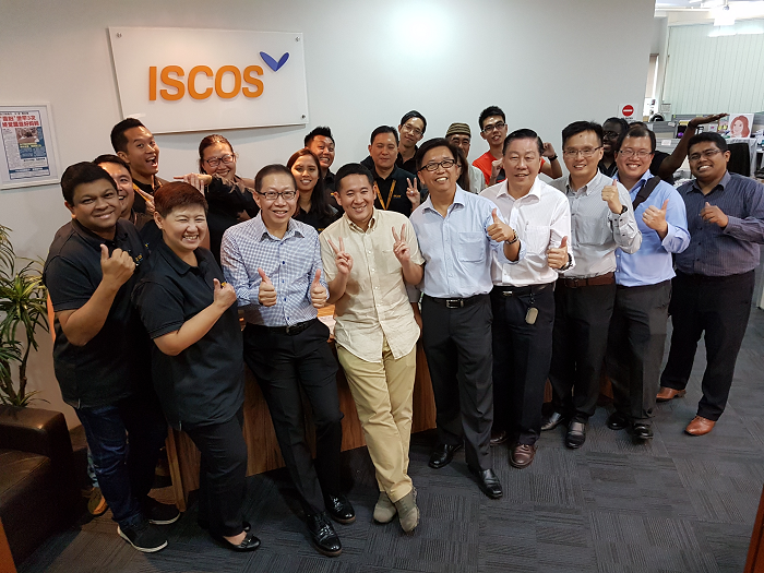Group photo with ISCOS staff