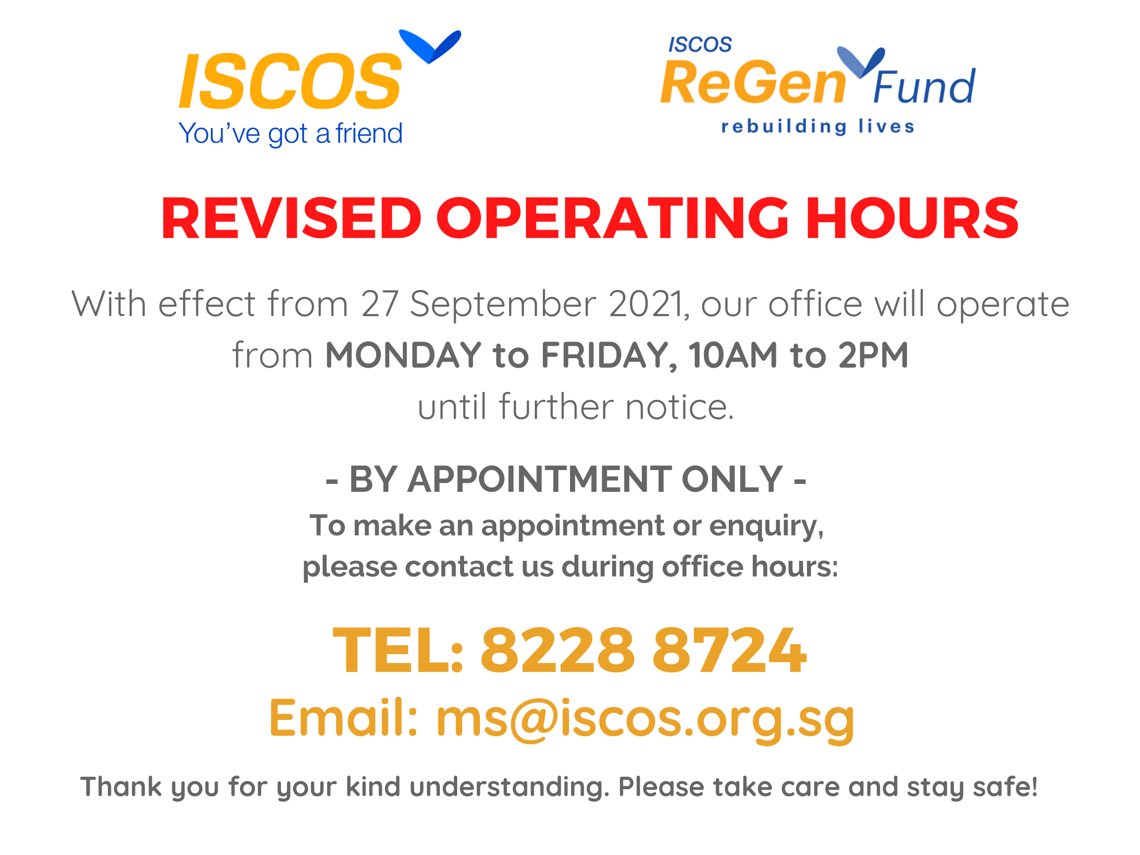 Revised hours (24 Sep 2021)