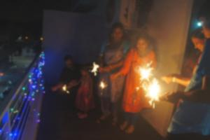 Blurry Deepavali sparklers picture